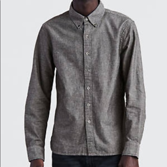 Levis Shirts Levis Pacific No Pocket Shirt In Black Chambray